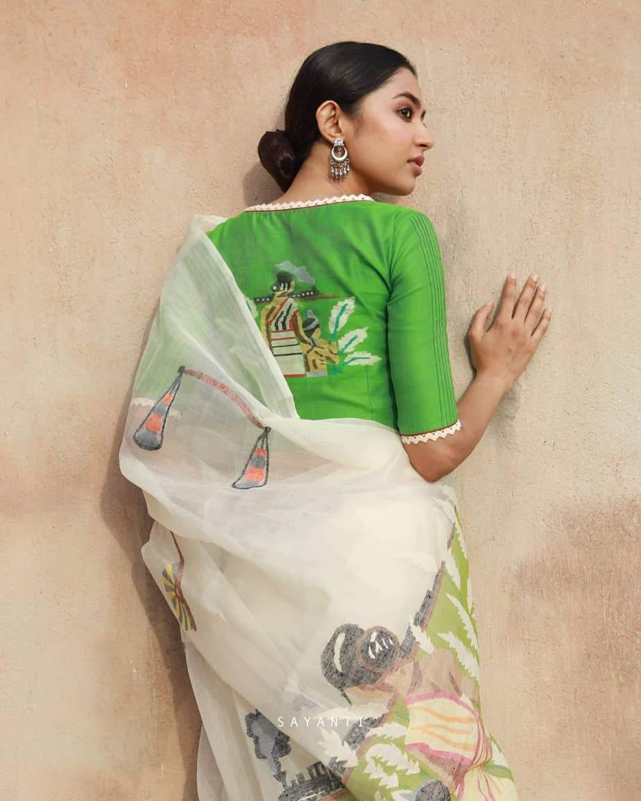 Apu Durga hand painted-Sayanti Ghosh-1