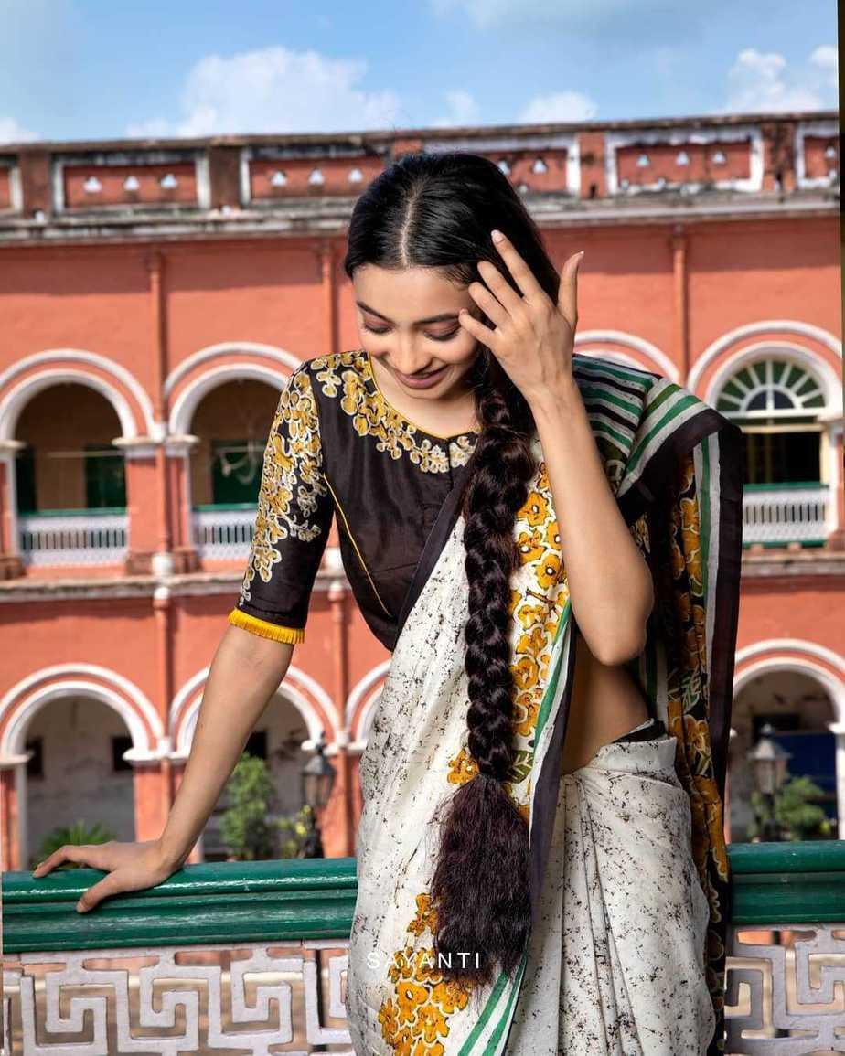 Batik apainted yellow floral blouse-Sayanti Ghosh-2