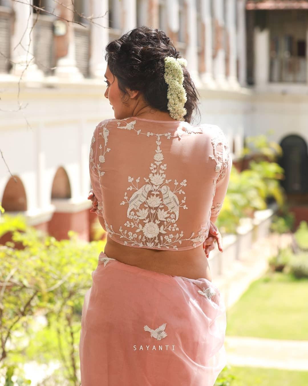 Bird embroidered blouse-sayanti ghosh