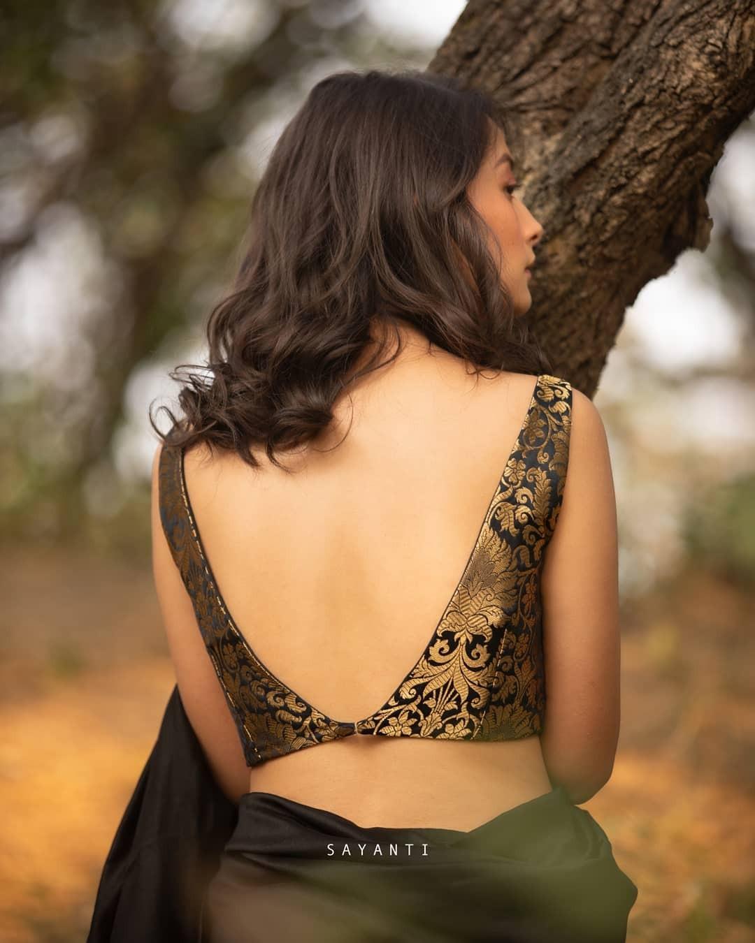Black brocade blouse-sayanti ghosh