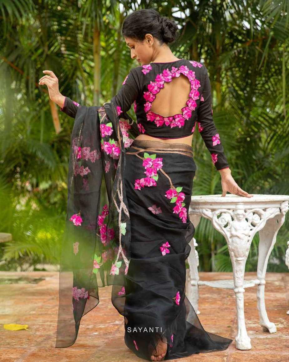 Black saree from Kagaj ke phool-sayanti Ghosh