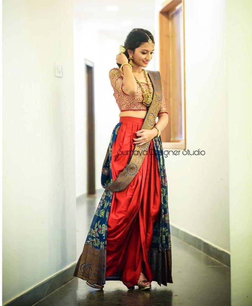 Dhoti half saree-Sumaya designer