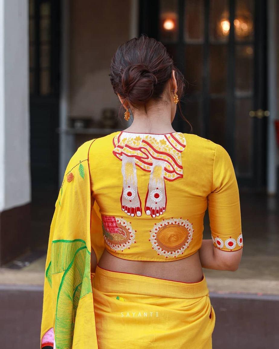 Gaye holud blouse-sayanti ghosh