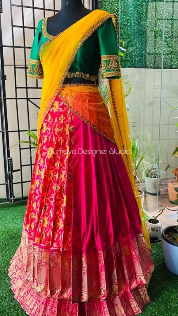 Half and half half saree-Sumaya Designer