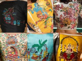 Handpainted blouse collections-Sayanti ghosh