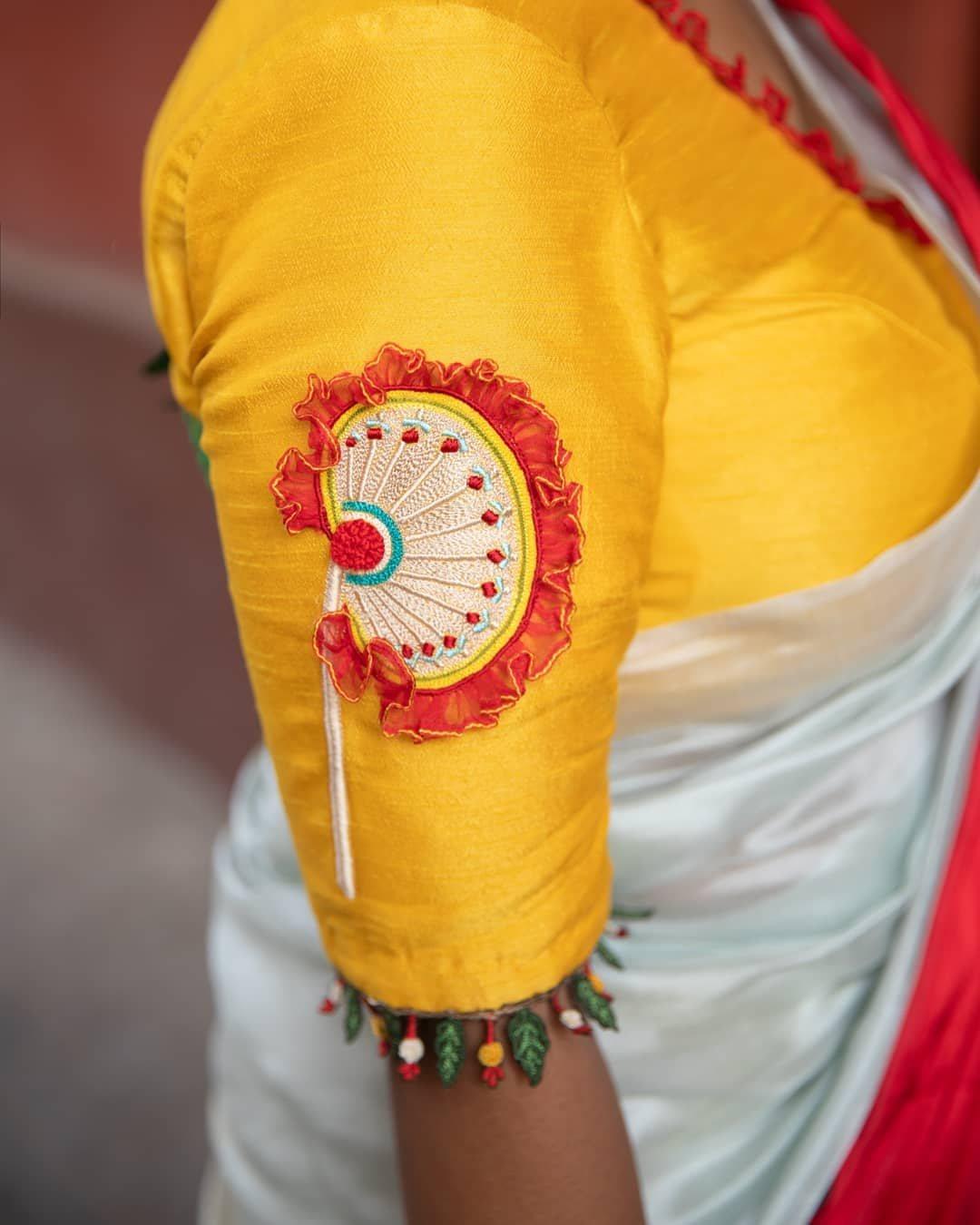Handpainted calcutta theme blouse-Sayanti Ghosh-1