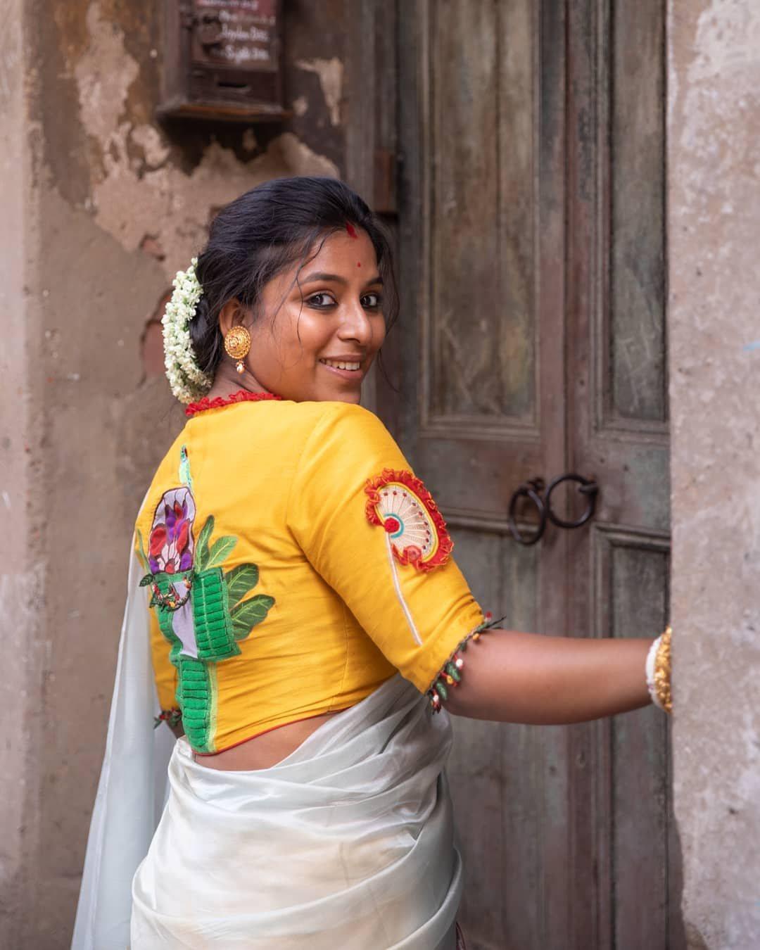Handpainted calcutta theme blouse-Sayanti Ghosh-2