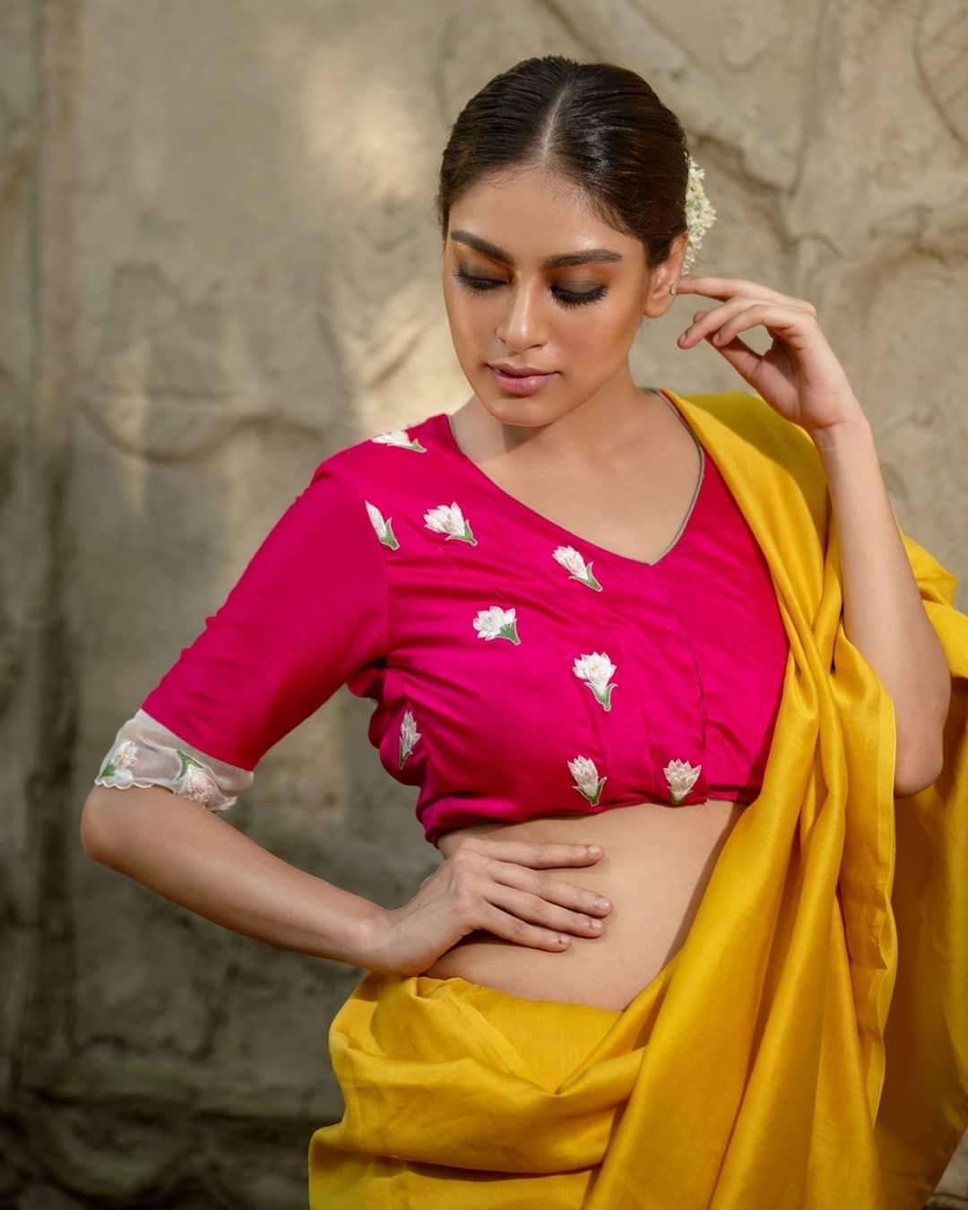 Jasmine embroidered pink blouse-Sayanti ghosh-1