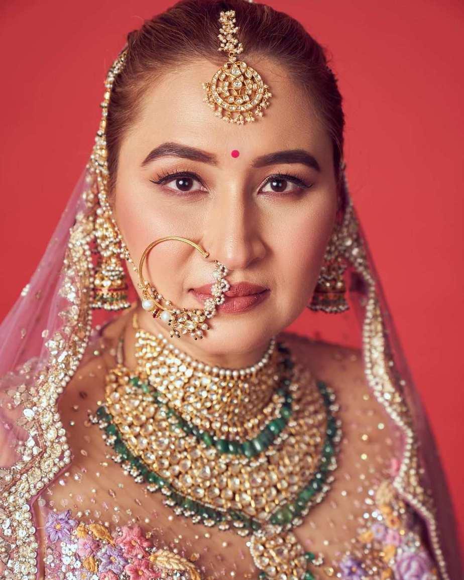 Jwala Gutta in Rimple and Harpreet lehenga for her north Indian wedding-1