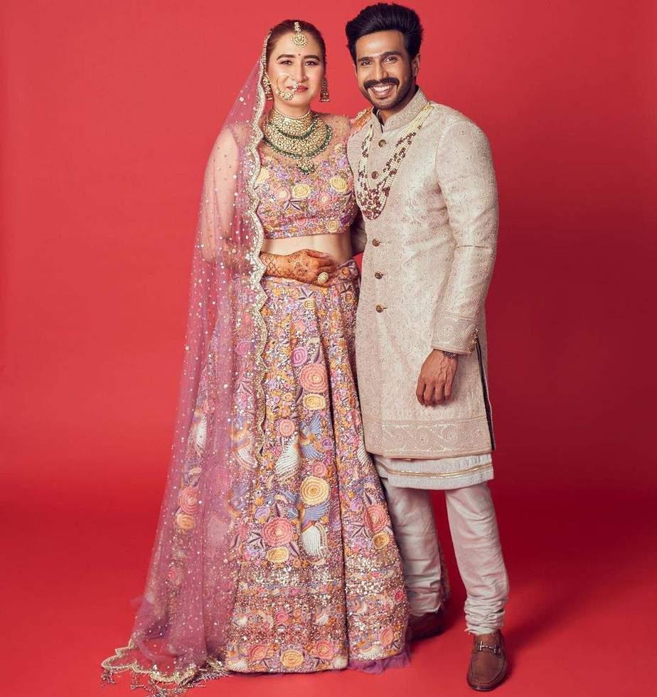Jwala Gutta in Rimple and Harpreet lehenga for her north Indian wedding-2