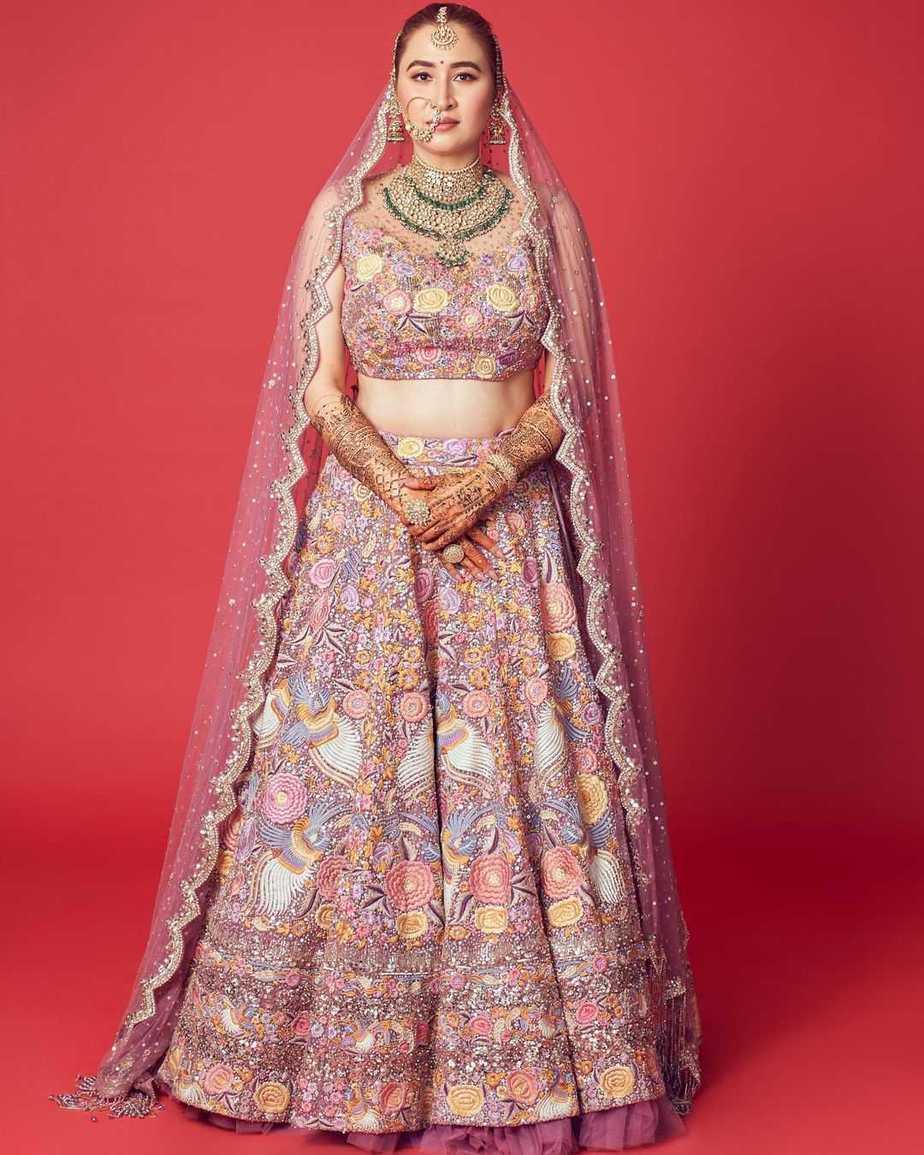 Jwala Gutta in Rimple and Harpreet lehenga for her north Indian wedding-3