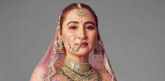 Jwala Gutta in Rimple and Harpreet lehenga for her north Indian wedding
