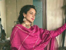 Kangana Ranaut in rani pink sharara set for eid-1