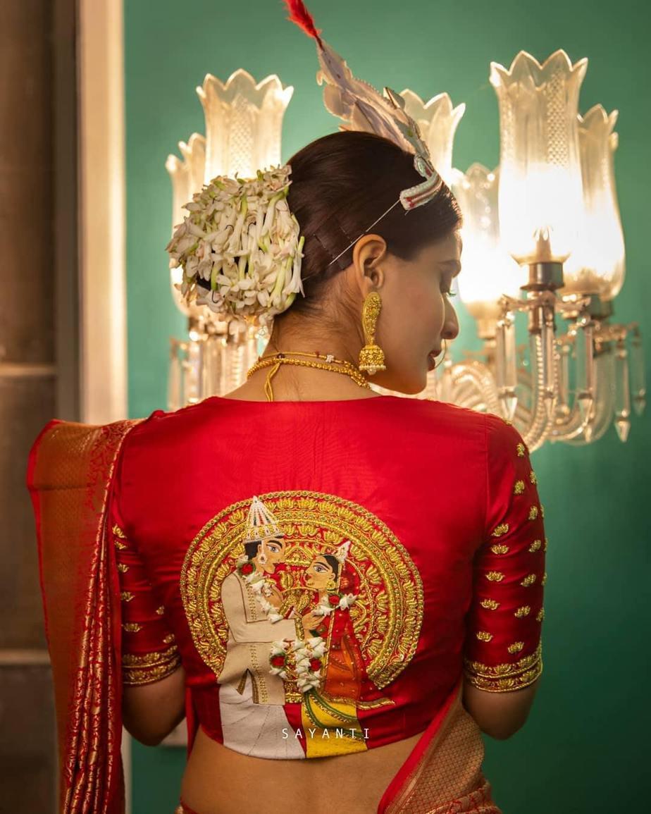 Mala badal art blouse-sayanti ghosh-1