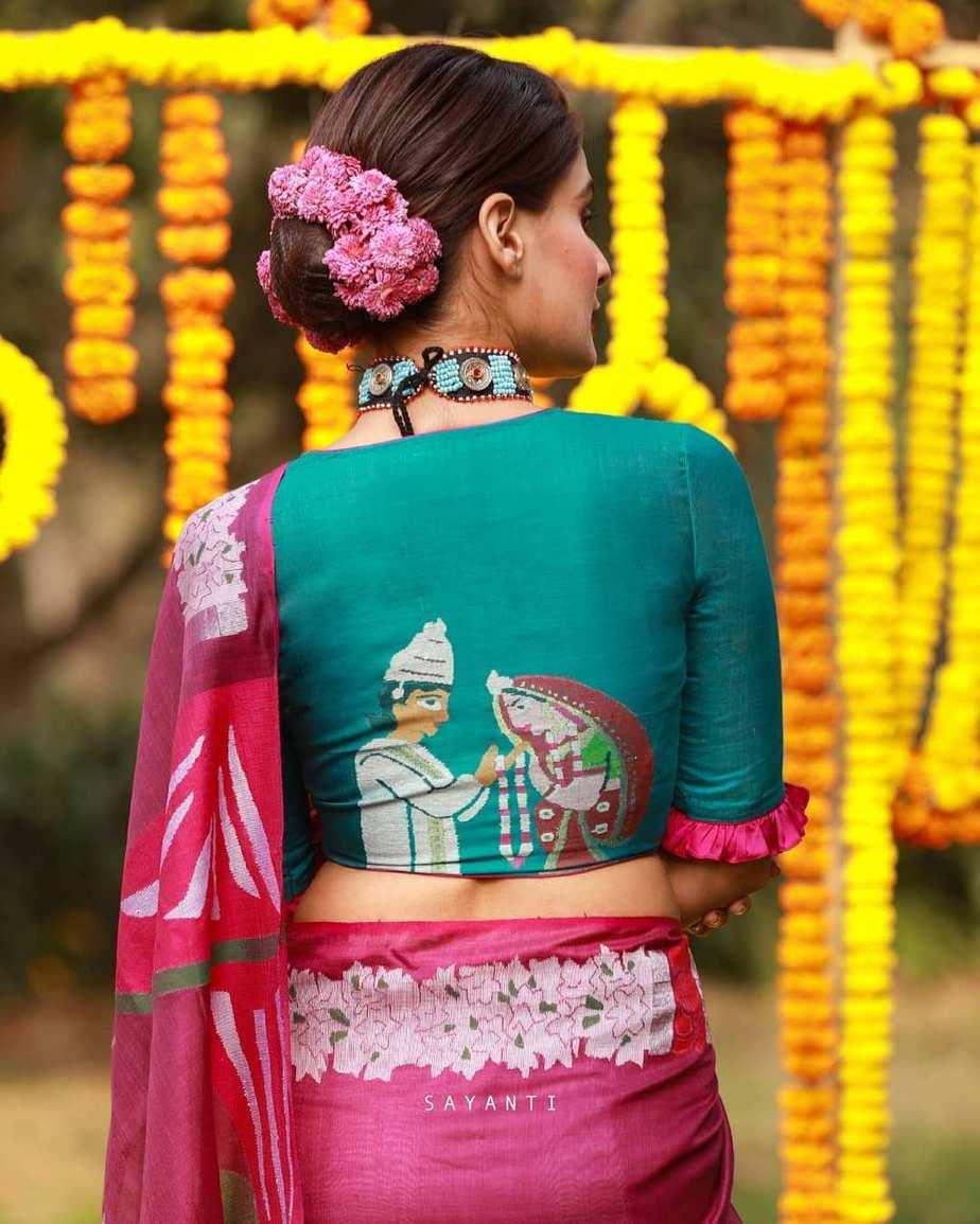 Mala badal art blouse-sayanti ghosh-3