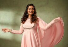 Nakshathra Nagesh in pastel anarkali by label evengelin-1