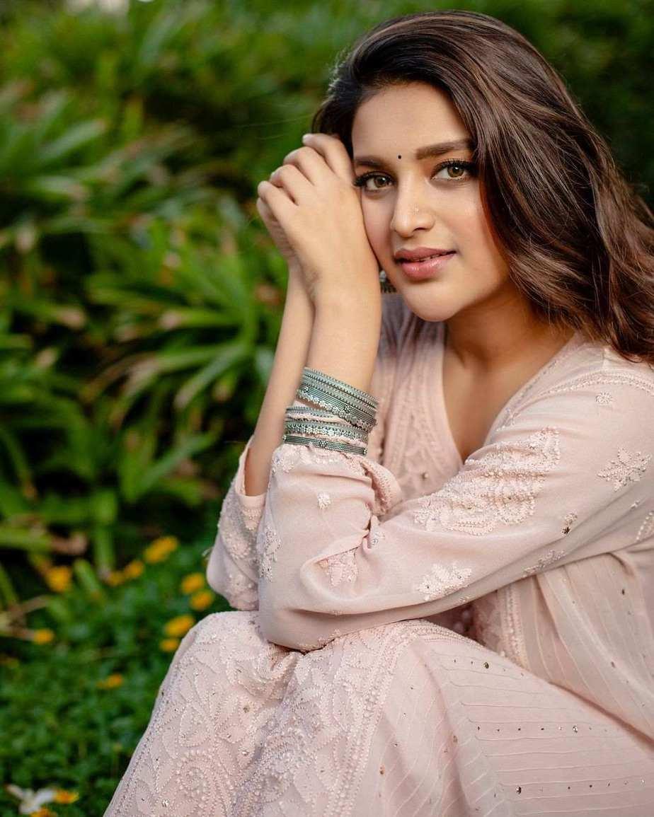 Nidhhi Agerwal in blush pink kurta set by Inaayat-1