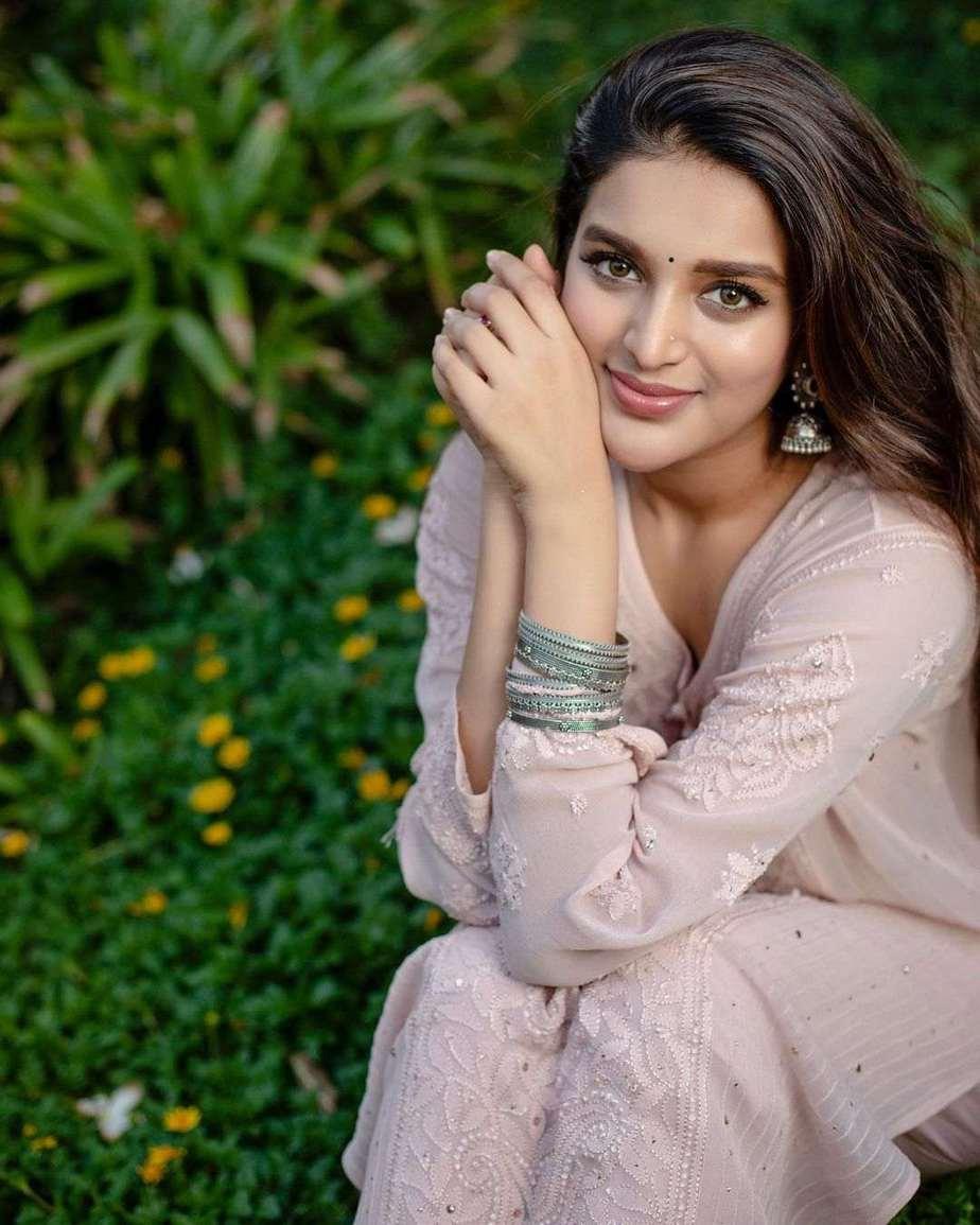 Nidhhi Agerwal in blush pink kurta set by Inaayat-3
