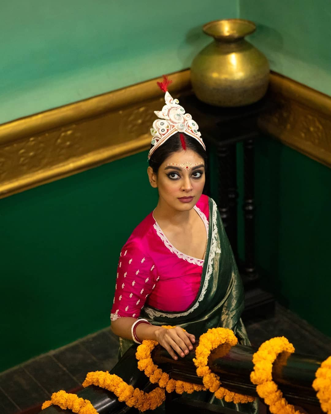Pink khoi fela art work bridal blouse-Sayanti ghosh