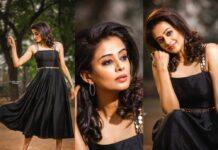 Priyamani raj in a custom made black dress my mehak shetty for dhee kings-featured