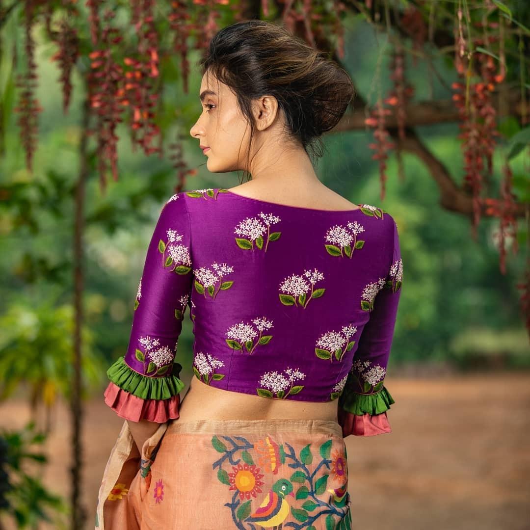 Purple embroidered blouse-Sayanti Ghosh-1