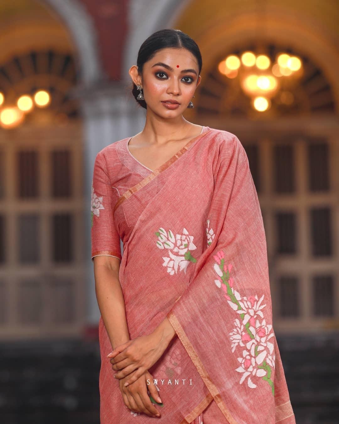 Rajnigandha saree-Sayanti Ghosh-1