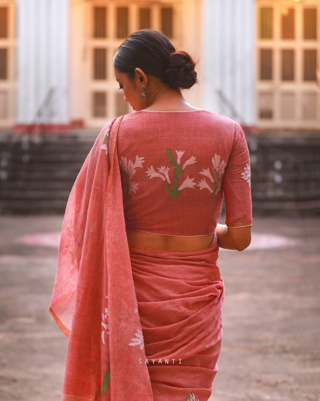 Rajnigandha saree-Sayanti Ghosh
