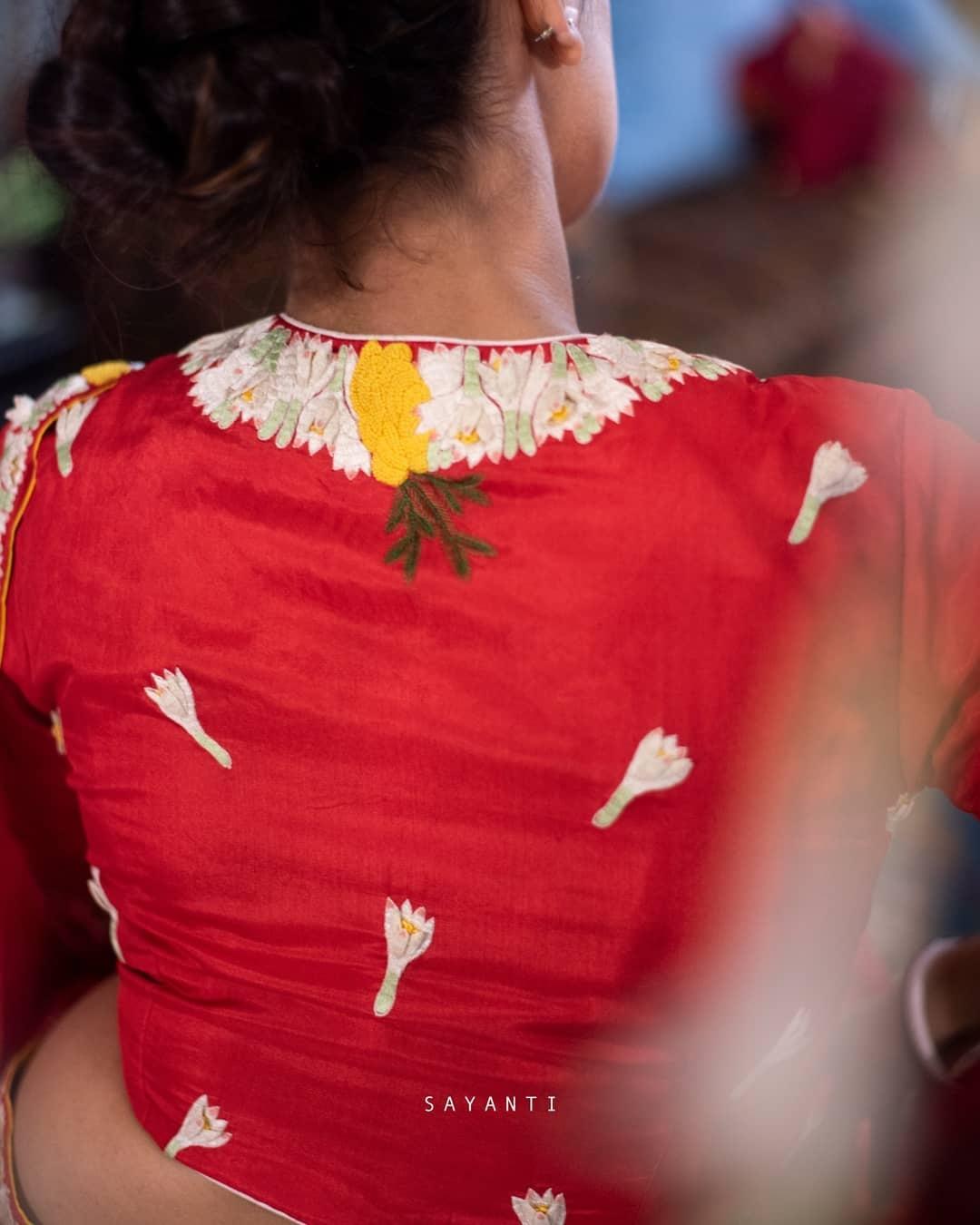 Rajnigandha wedding blouse-Sayanti Ghosh
