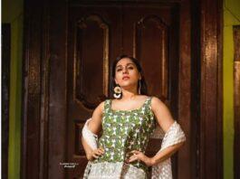 Rashmi Gautam in a kurta-set by Shrutii G clothing