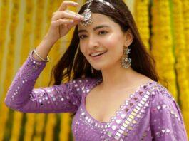 Rukshar Dhillon in purple lehenga for Vvani for sister's sangeet (1)