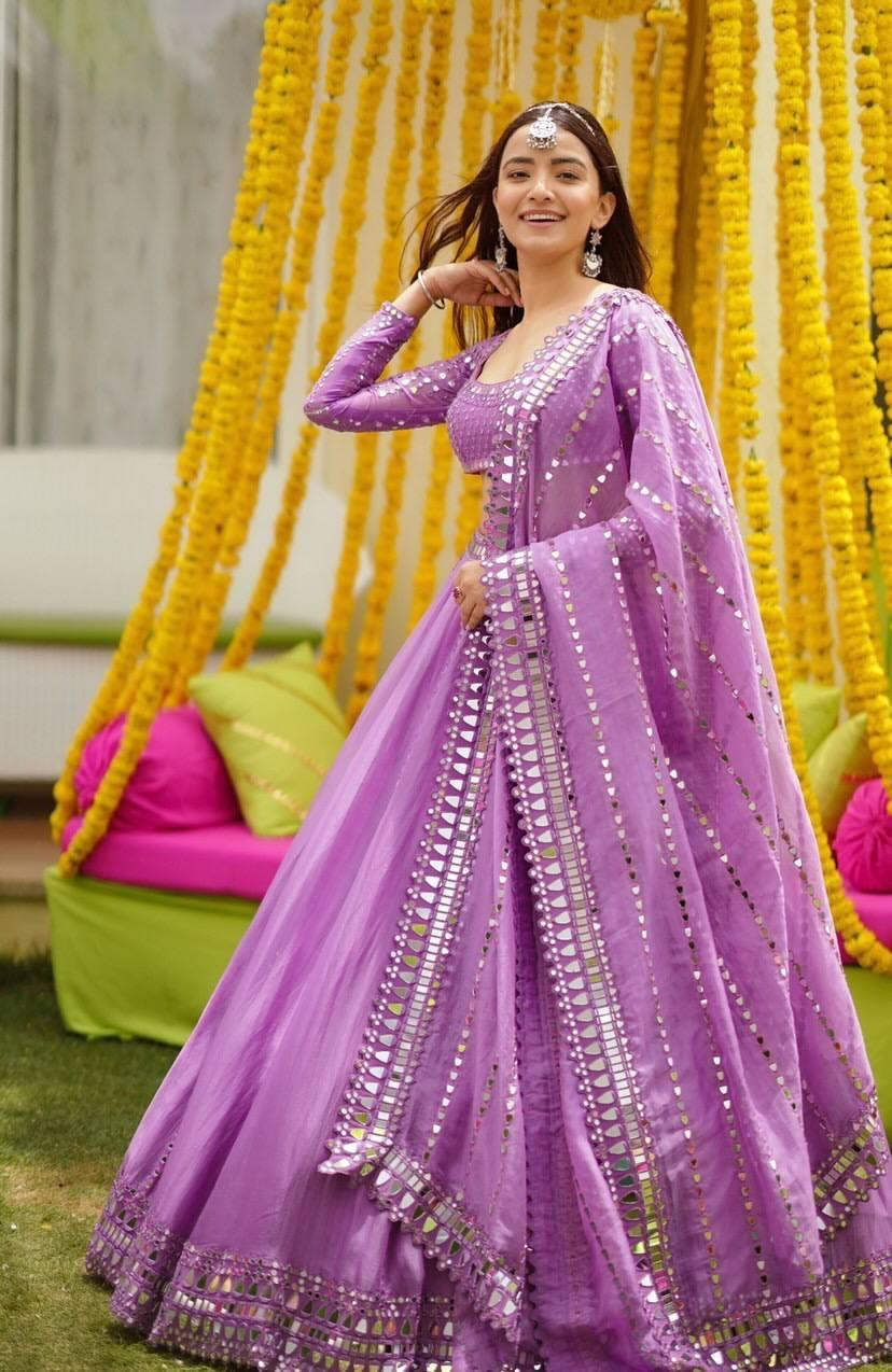 Rukshar Dhillon in purple lehenga for Vvani for sister's sangeet-2