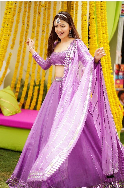 Rukshar Dhillon in purple lehenga for Vvani for sister's sangeet-4