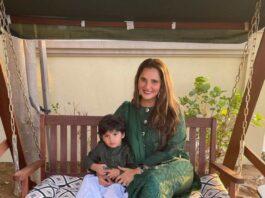 Sania Mirza in green kalidar by Nomi Ansari-1