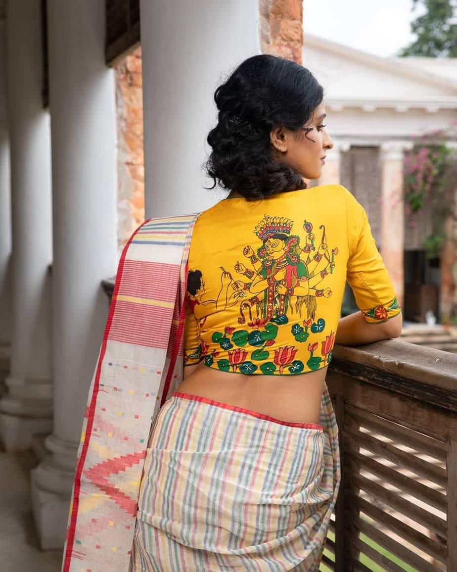 Shosti hand painted blouse-Sayanti Ghosh-1