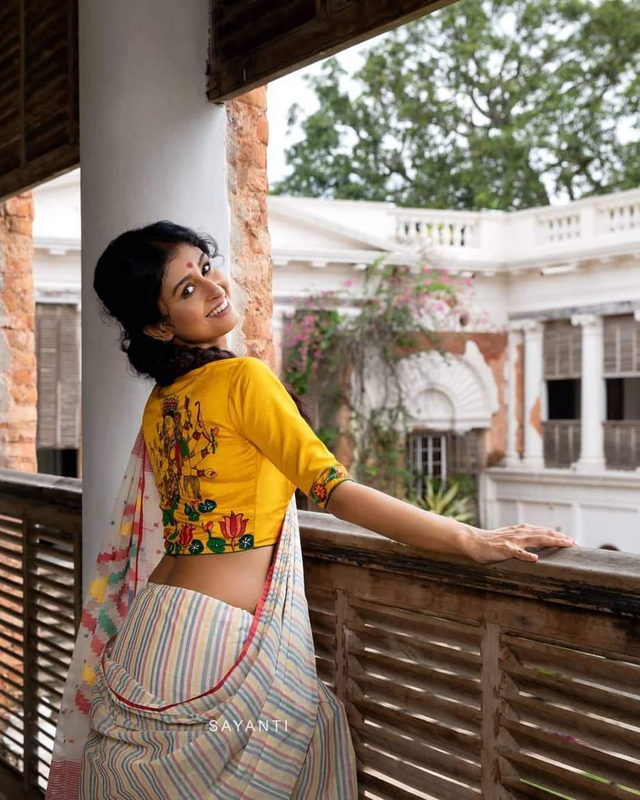 Shosti hand painted blouse-Sayanti Ghosh