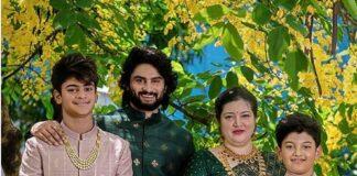 Sudheer Babu in green ethnic wear by raamz for son's dhoti ceremony-2