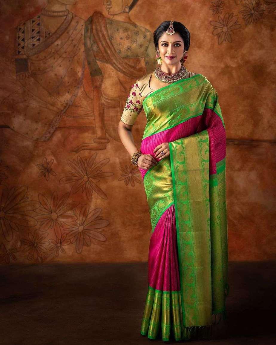 Vimala Raman in pattu saree by anya boutique-3
