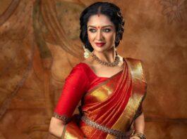 Vimala Raman in red kanchi saree by Anya Boutique-1