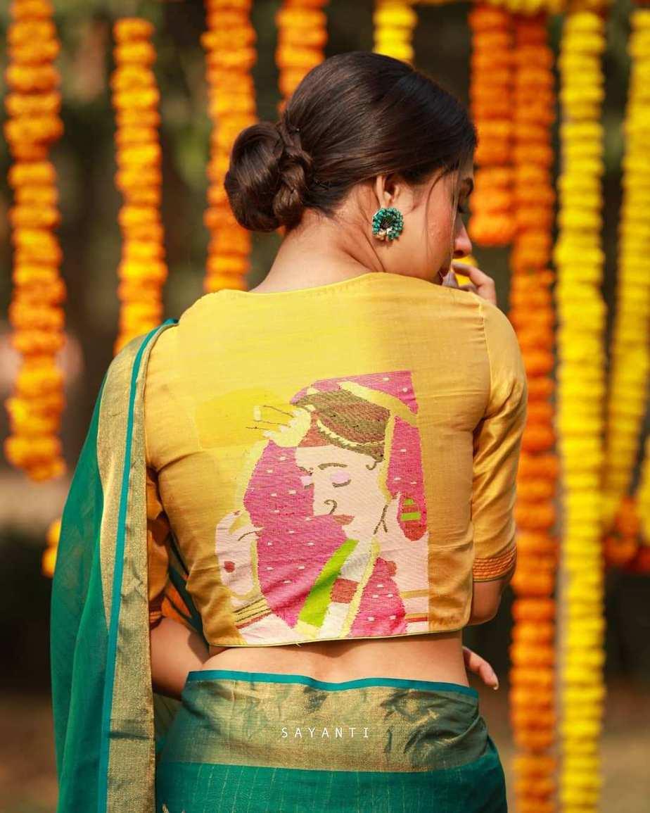 Wedding jamdani blouse-sayanti ghosh-1