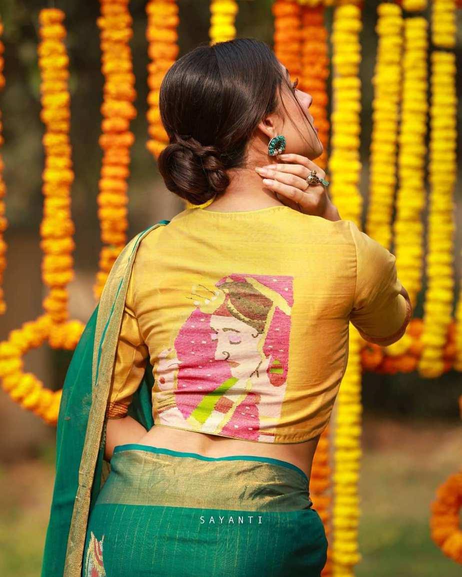 Wedding jamdani blouse-sayanti ghosh