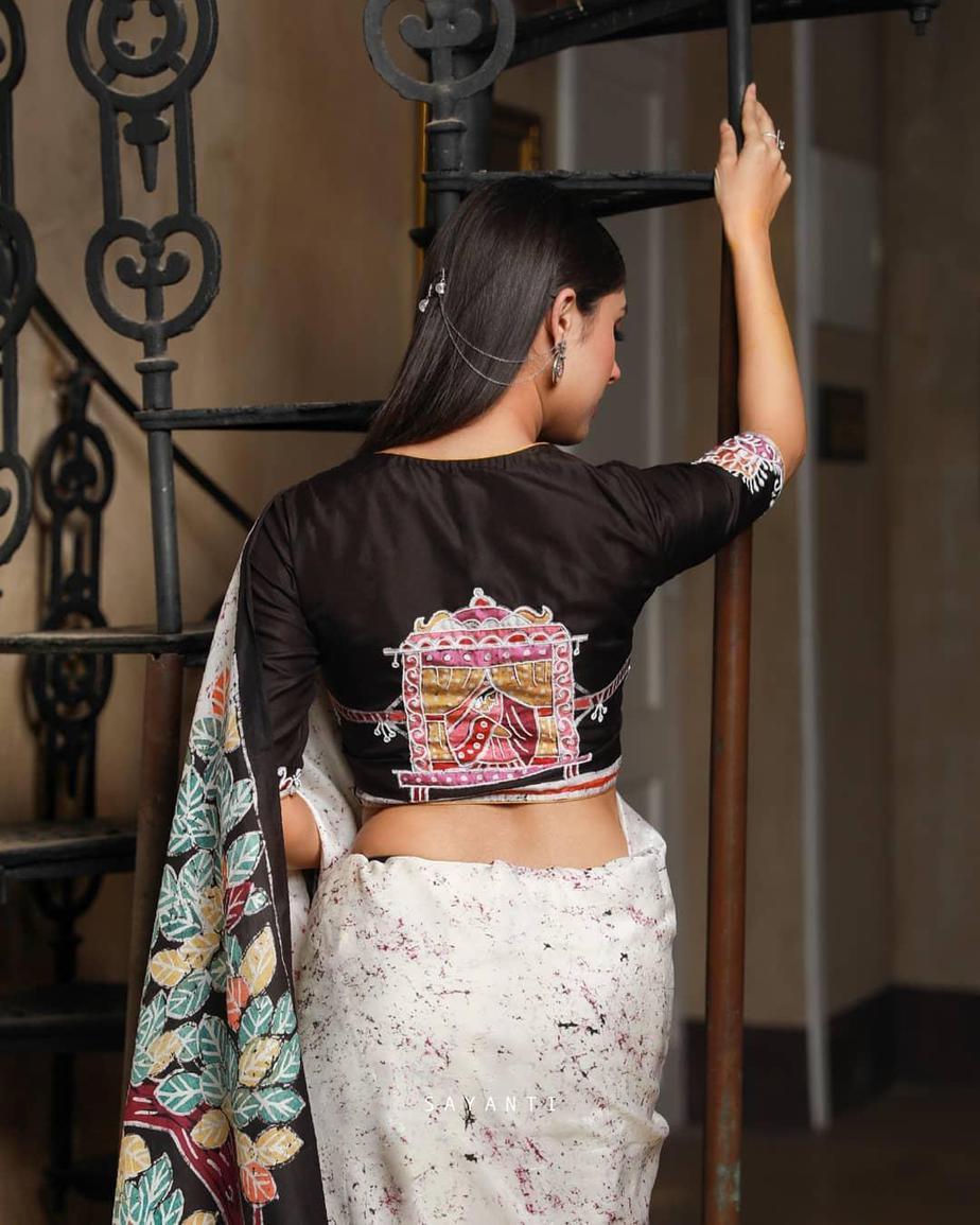 Wedding theme batik saree-sayanti Ghosh-1