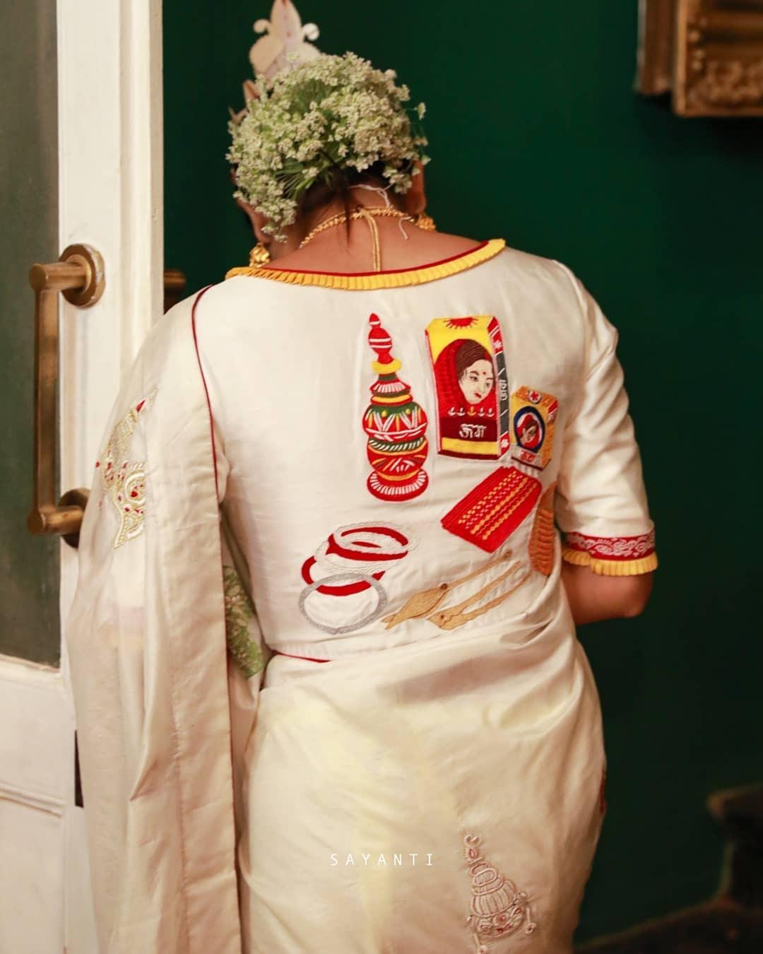 Wedding theme saree-white-sayanti Ghosh-1