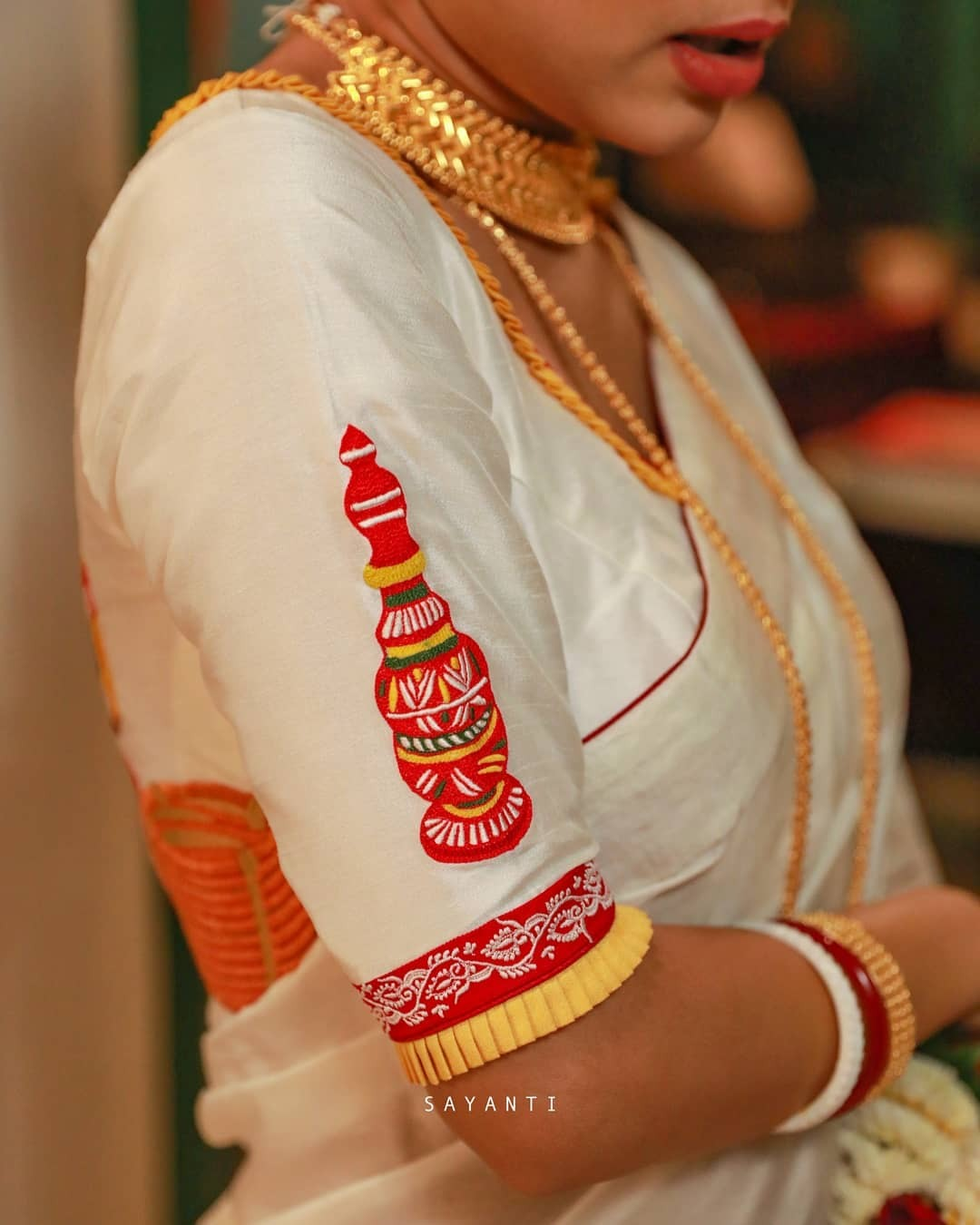 Wedding theme saree-white-sayanti Ghosh