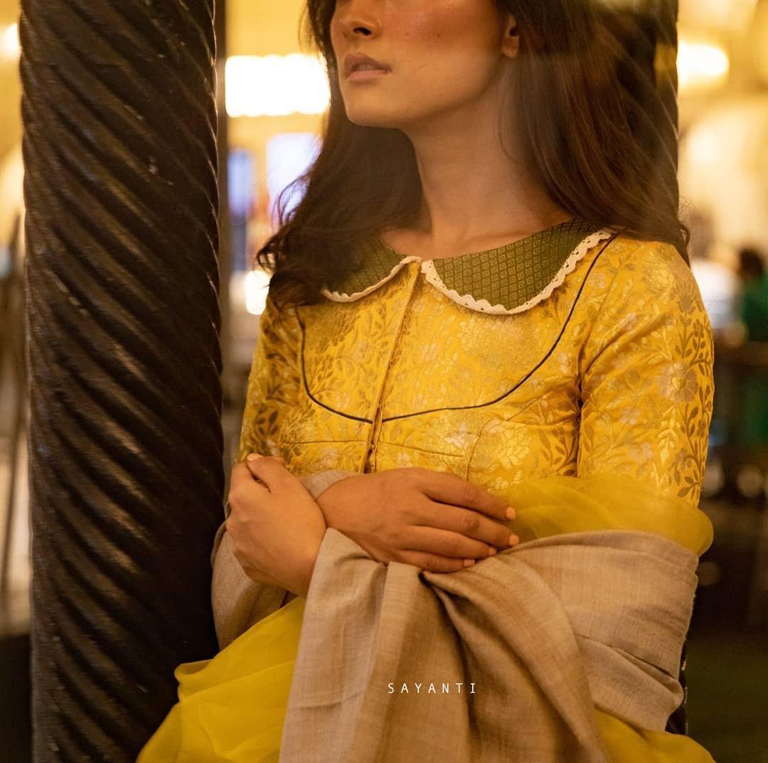 Yellow brocade-Sayanti ghosh-1