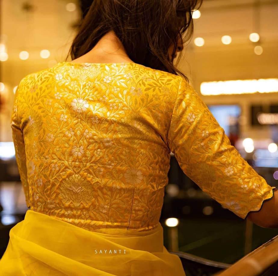 Yellow brocade-Sayanti ghosh