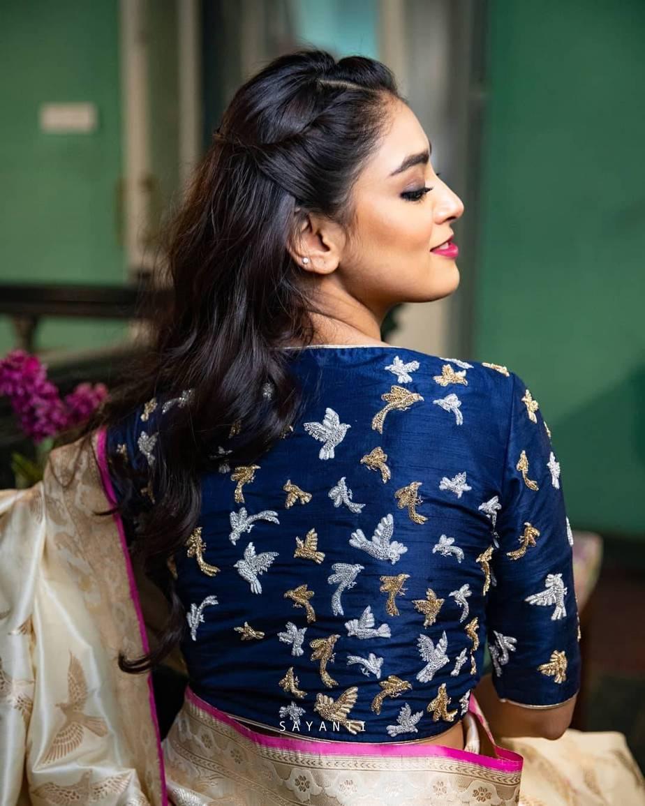 Zari embroidered blouse- sayanti ghosh