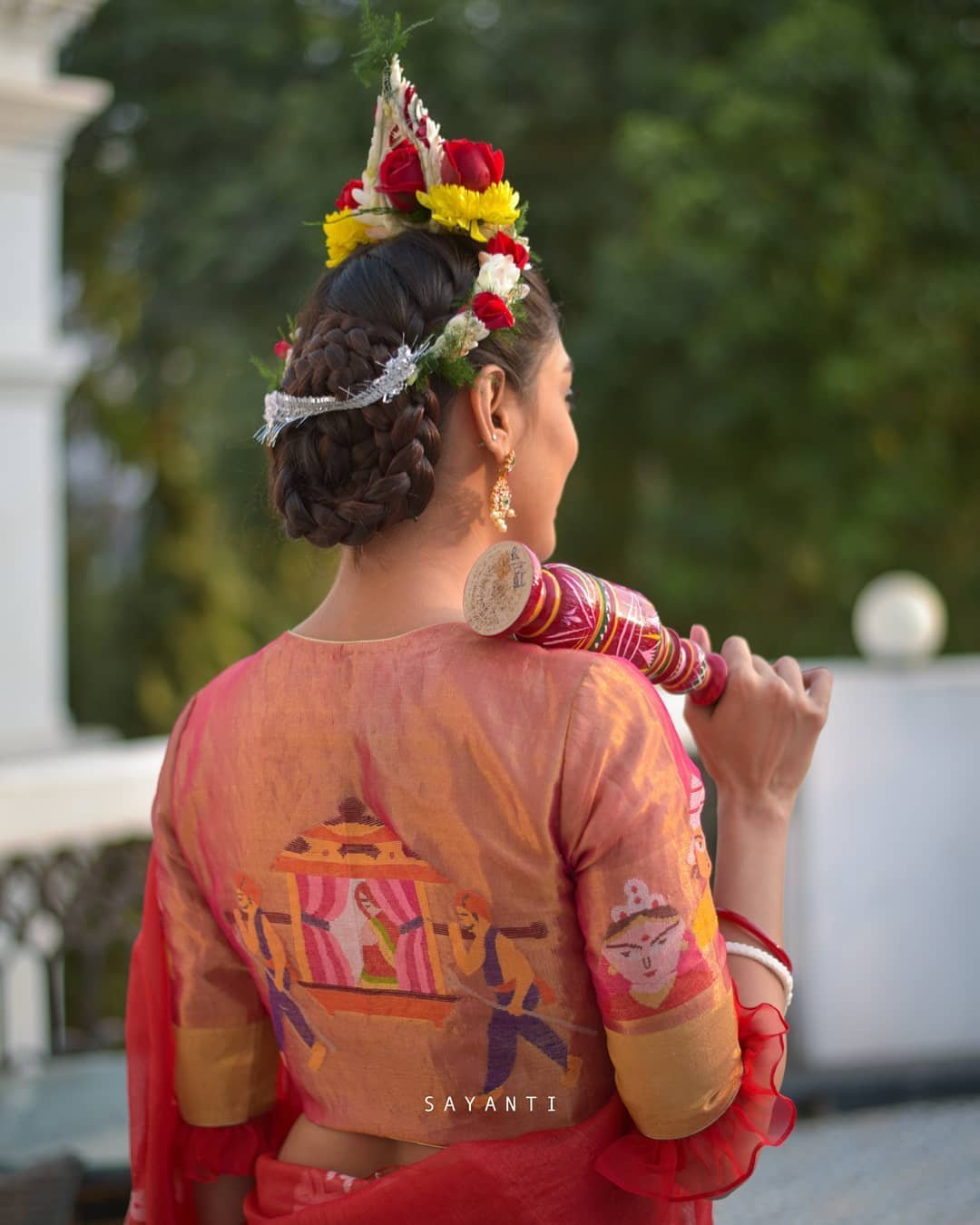 Zari wedding tissue silk blouse-sayanti Ghosh-1