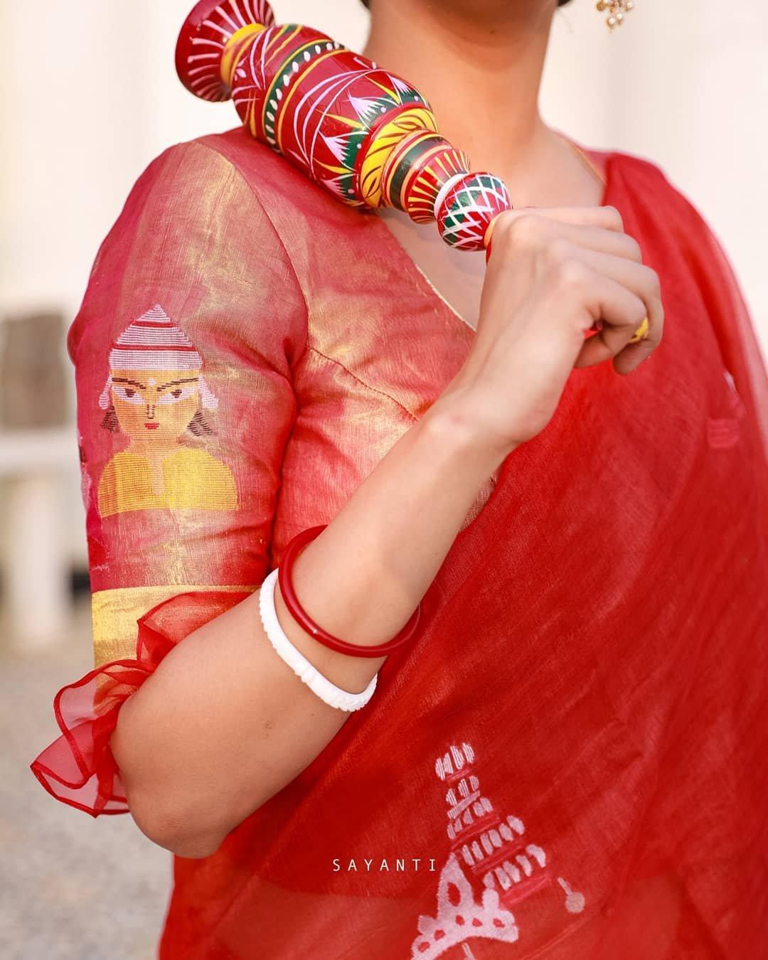 Zari wedding tissue silk blouse-sayanti Ghosh