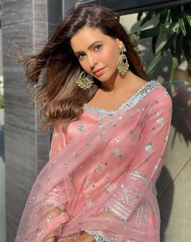 aamna sharif in pink sharara suit from gopi vaid