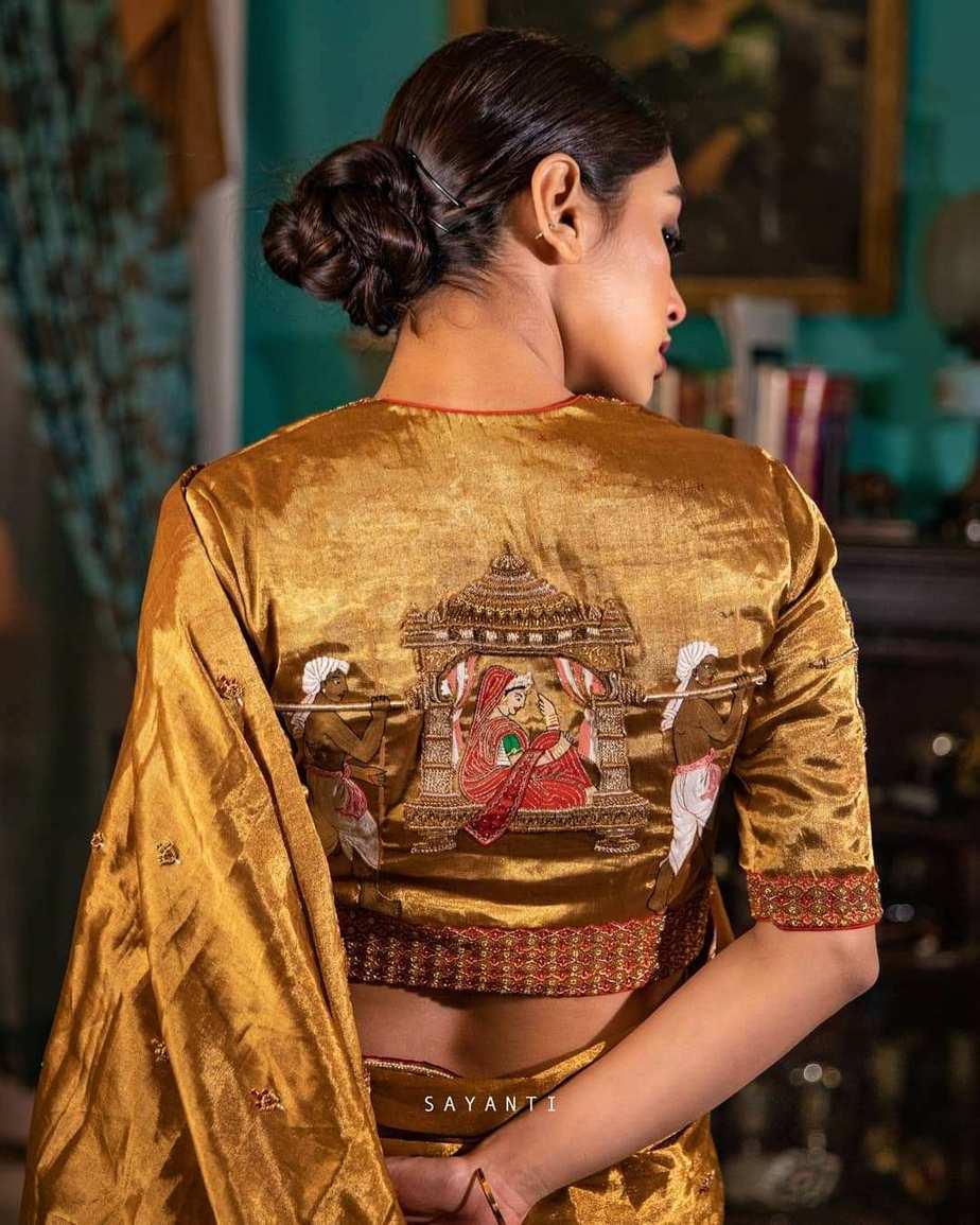 copper wedding theme tissue silk-Sayanti ghosh-1